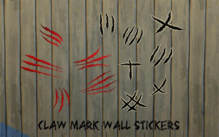 Claw Marks Wallpaper / TS4 CC