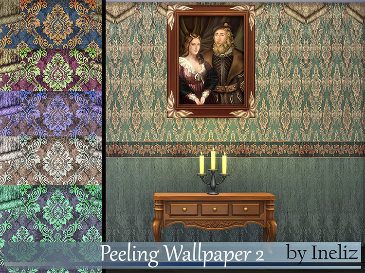 Peeling Wallpaper CC for The Sims 4
