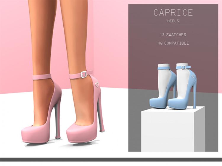 Caprice Heels / Sims 4 CC