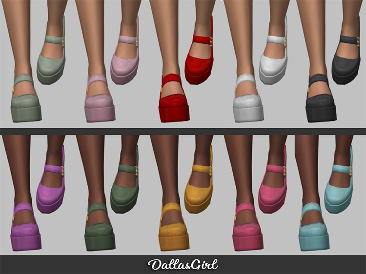 Mary Jane Platforms for The Sims 4