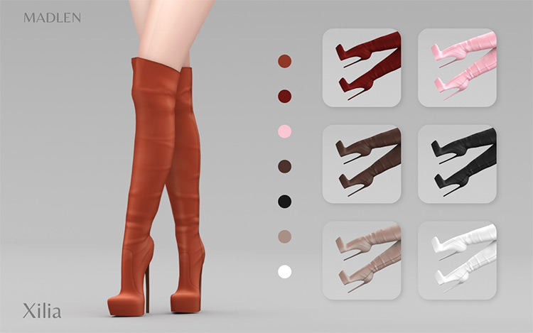 Madlen Xilia Platform Boots / Sims 4 CC