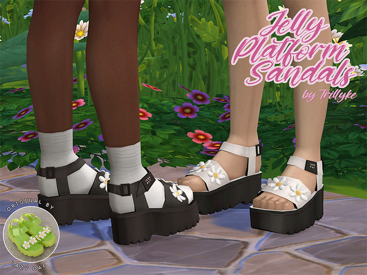 Jelly Platform Sandals CC for The Sims 4