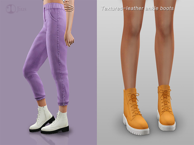 Texture Leather Ankle Boots / Sims 4 CC