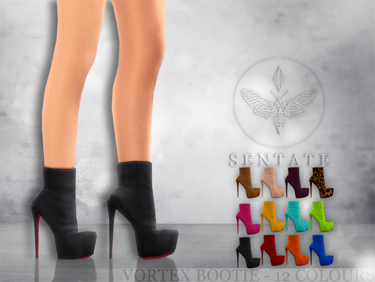 Vortex Bootie CC for The Sims 4