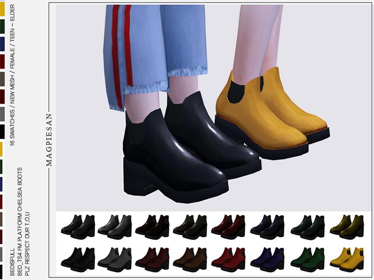 Platform Chelsea Boots / TS4 CC