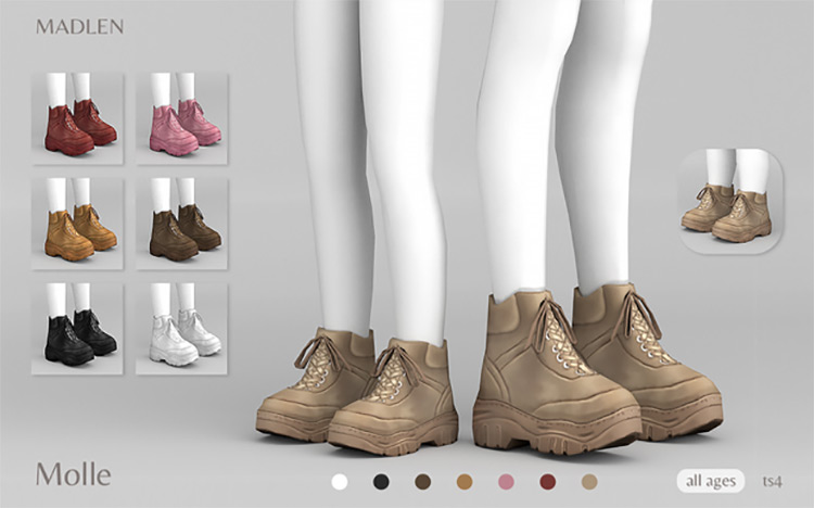 Madlen Molle Boots for The Sims 4