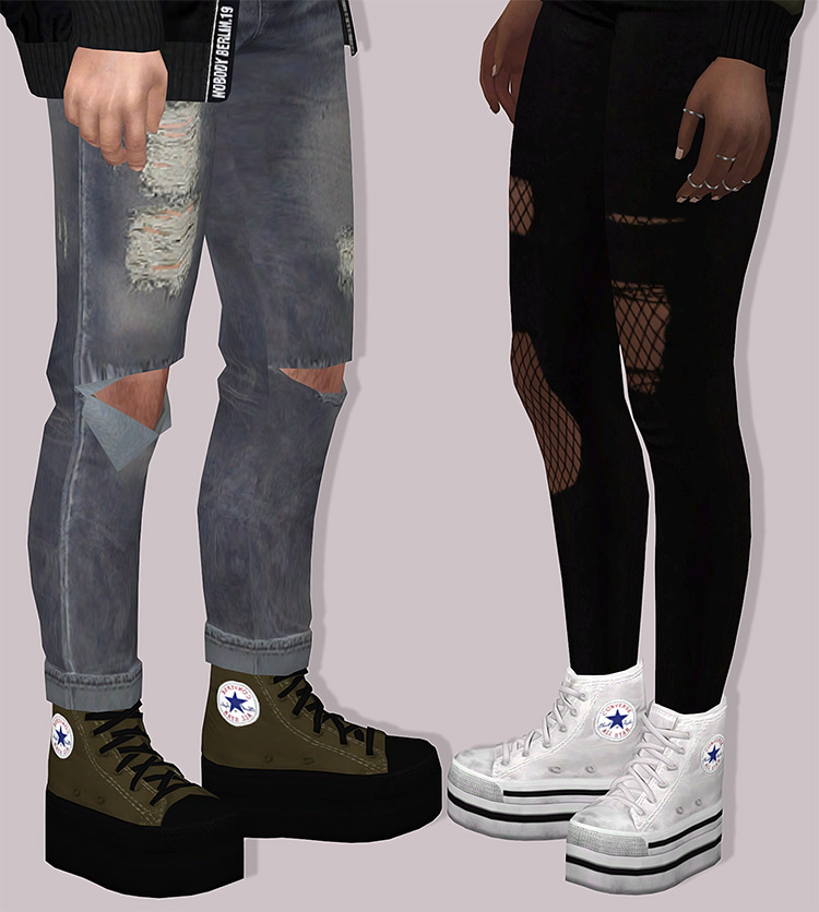 Converse Platforms / Sims 4 CC