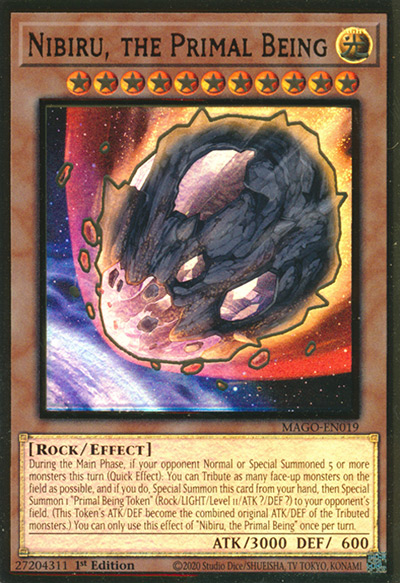 Nibiru, the Primal Being YGO Card
