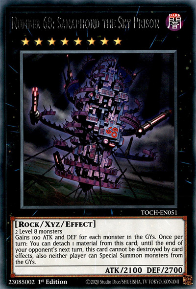 Number 68: Sanaphond the Sky Prison Yu-Gi-Oh Card