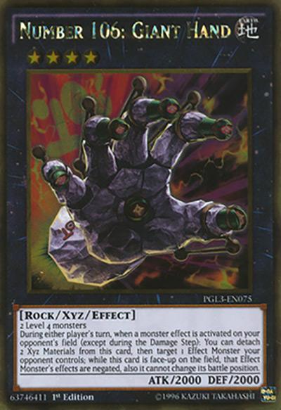 Number 106: Giant Hand Yu-Gi-Oh Card