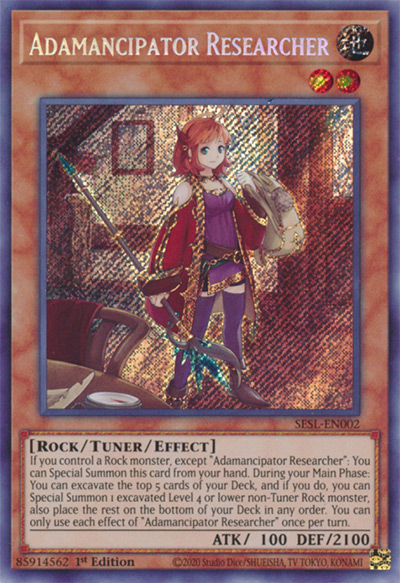 Adamancipator Researcher Yu-Gi-Oh Card