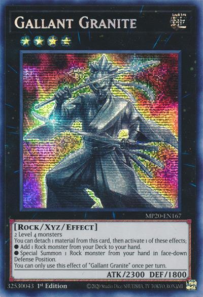 Gallant Granite Yu-Gi-Oh Card