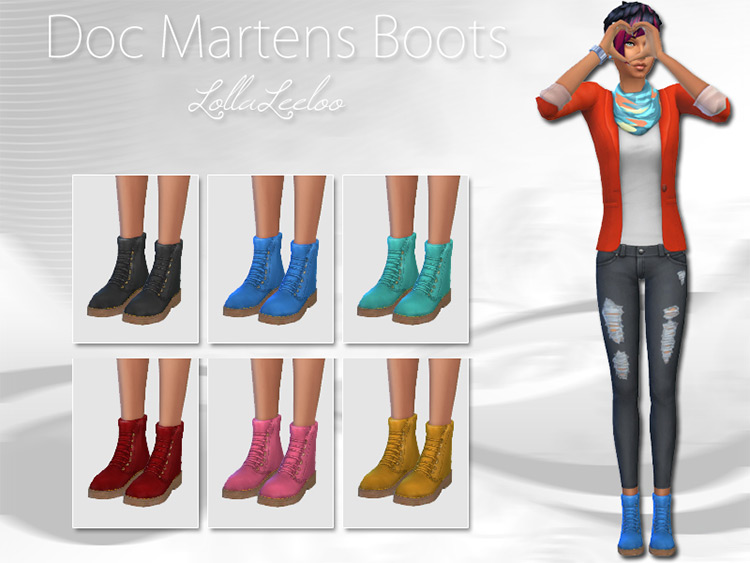 Doc Martens Boots by LollaLeeLoo / Sims 4 CC