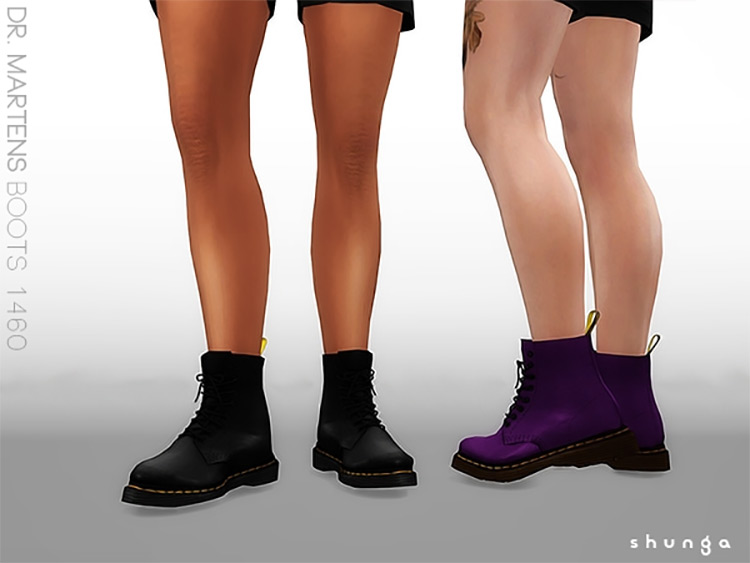 Dr. Martens 1460 CC for The Sims 4