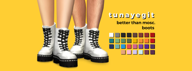Better Than Mosc. Boots / Sims 4 CC