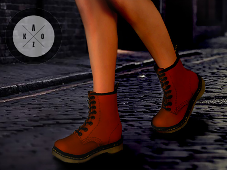Pixicat Unisex Boots CC for The Sims 4