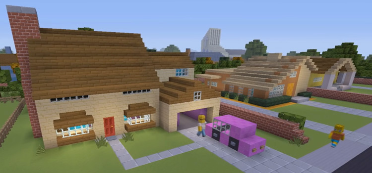 The Simpsons home in Minecraft