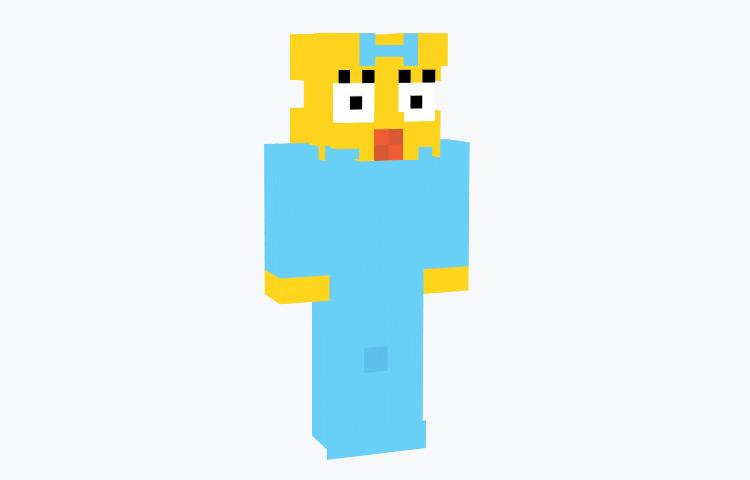 Maggie Simpson Minecraft Skin