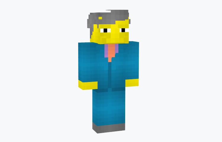 Seymour Skinner Simpsons Minecraft Skin