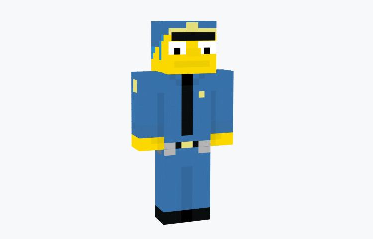 Chief Wiggum Minecraft Skin preview