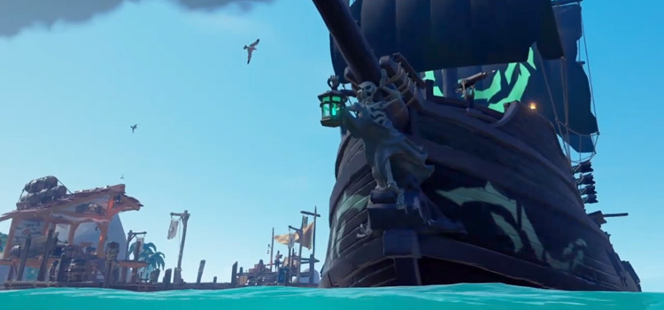 Ghost Figurehead on ship in Sea Of Thieves