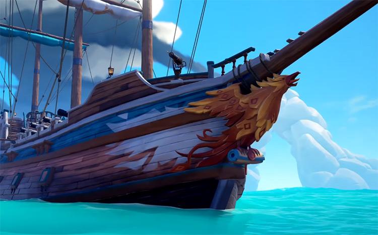 Gilded Phoenix Figurehead / Sea of Thieves