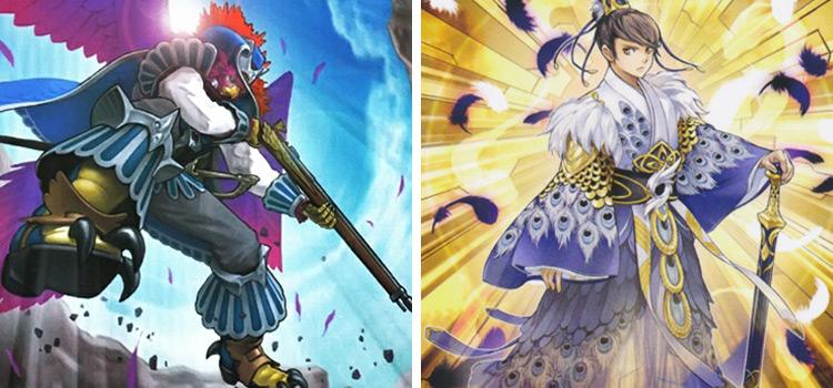 Castel Skyblaster Musketeer & Shinobaron Peacock YGO