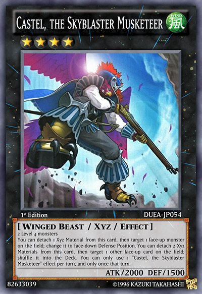 Castel, the Skyblaster Musketeer Yu-Gi-Oh Card