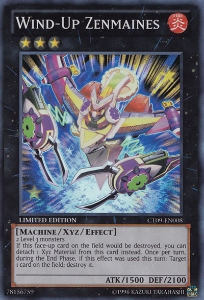 Wind-Up Zenmaines YGO Card