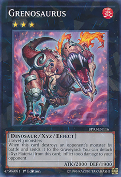Grenosaurus Yu-Gi-Oh Card