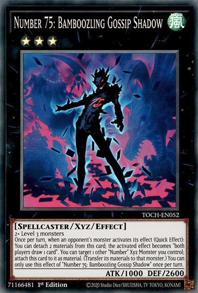 Number 75: Bamboozling Gossip Shadow Yu-Gi-Oh Card