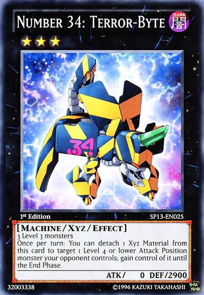 Number 34: Terror-Byte Yu-Gi-Oh Card