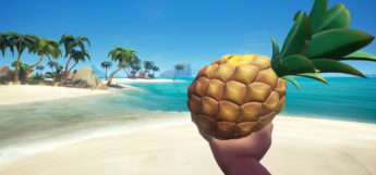 Pirate holding pineapple in Sea of Thieves