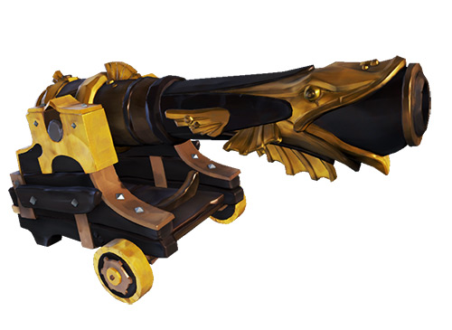 Golden Barnacle Cannons Skin / Sea of Thieves
