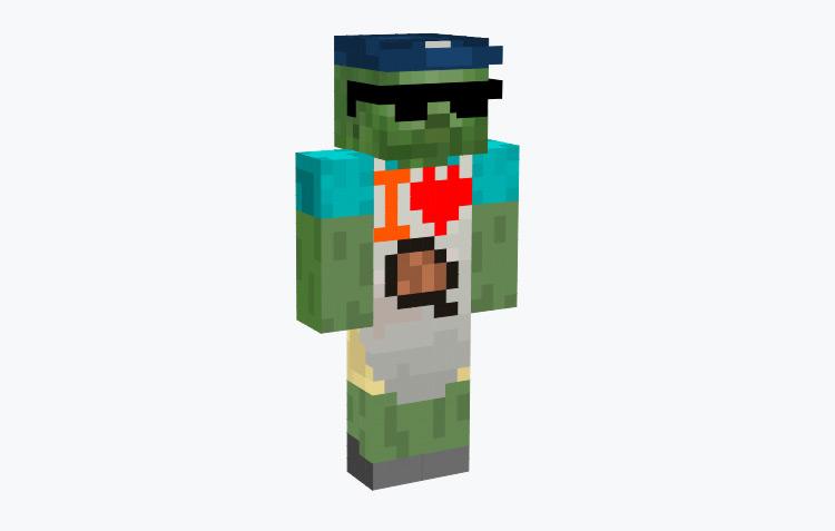 Grill Zombie Dad / Minecraft Skin