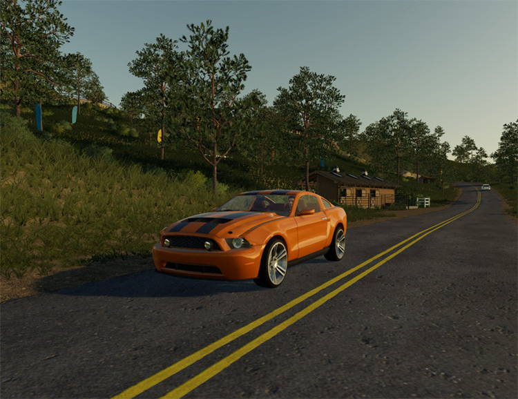 Road Rage Mustang Vechile / FS19 Mod