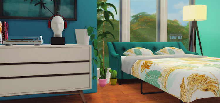 Comfort Zone Preview Sofa Bed CC / The Sims 4