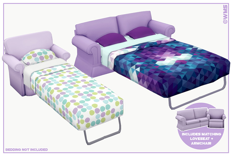 Dylan Sofa Bed CC for The Sims 4