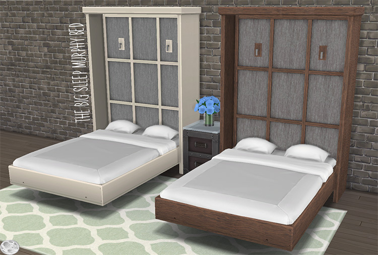 Big Sleep Murphy Bed CC for The Sims 4