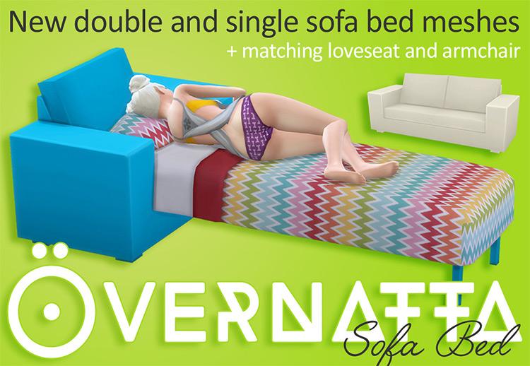 Övernatta Sofa Bed CC for The Sims 4