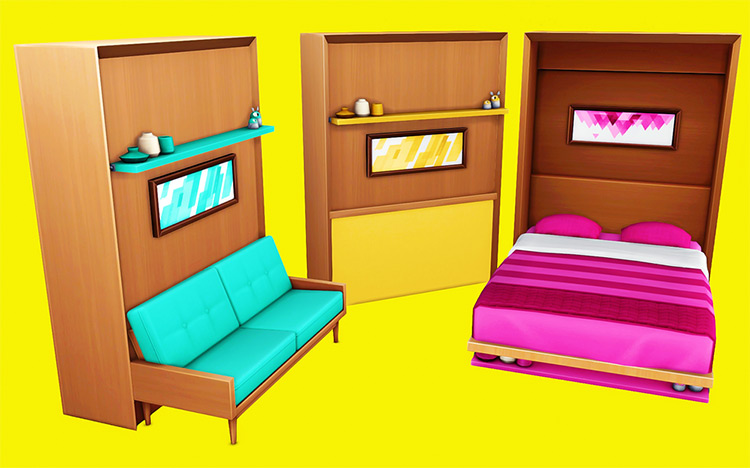 Tiny Living Beds (Sorbet Remix) / Sims 4 CC