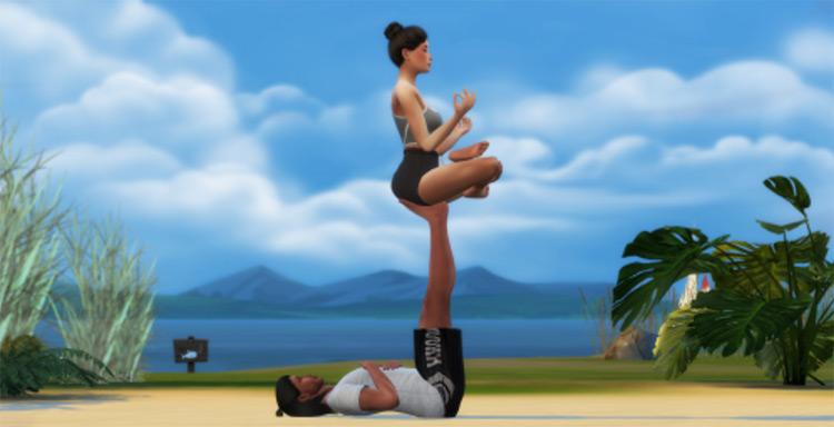 Couple Yoga Posepack by simmingforfun / TS4
