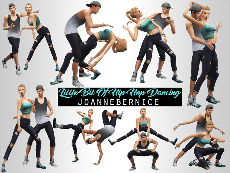 Little Bit of Hip-Hop Dancing by Joannebernice for The Sims 4