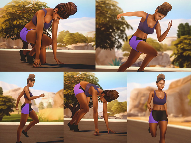 Running Pose Pack by katverse for The Sims 4