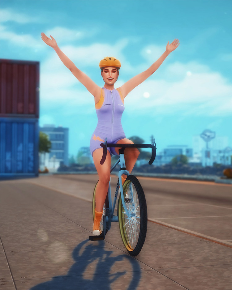 Cycling Pose Pack for The Sims 4