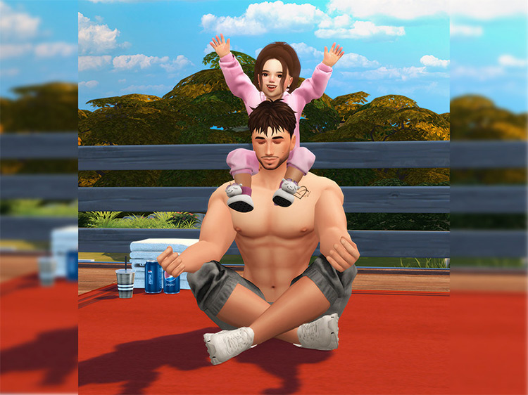 Exercise Day Poses by Beto_ae0 for The Sims 4