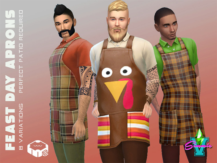 Feast Day Apron CC for The Sims 4