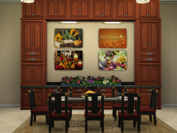 Thanksgiving Paintings / Sims 4 CC