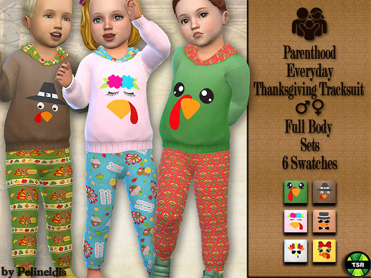 Thanksgiving Tracksuit for The Sims 4
