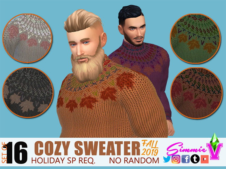 Cozy Sweaters For Fall / Sims 4 CC